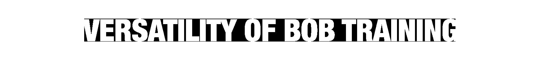 Versatility of BOB Training
